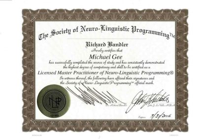 NLP Master Practitor